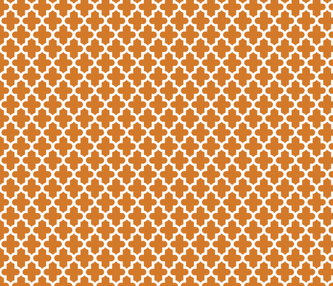 Burnt Orange Moroccan fabric by sweetzoeshop on Spoonflower - custom fabric