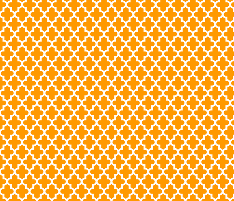Orange Moroccan fabric by sweetzoeshop on Spoonflower - custom fabric