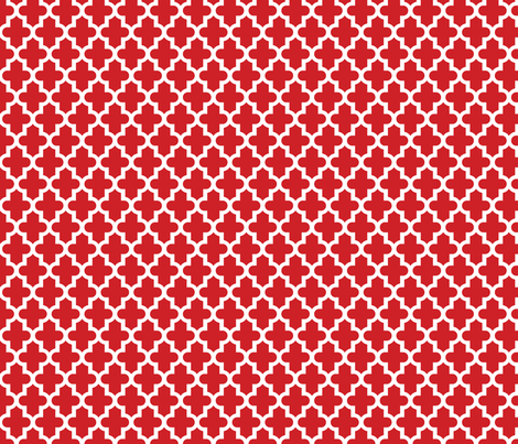 Red Moroccan fabric by sweetzoeshop on Spoonflower - custom fabric
