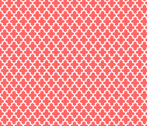 Coral Moroccan fabric by sweetzoeshop on Spoonflower - custom fabric