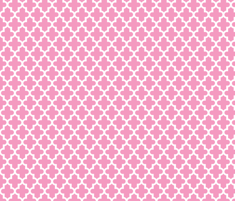 Bubblegum Pink Moroccan fabric by sweetzoeshop on Spoonflower - custom fabric