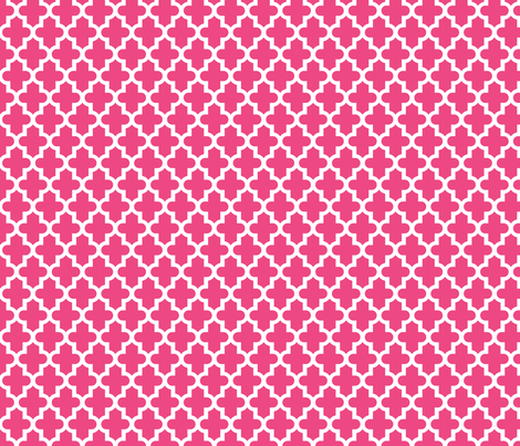 Hot Pink Moroccan fabric by sweetzoeshop on Spoonflower - custom fabric