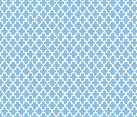Sky Blue Moroccan fabric by sweetzoeshop on Spoonflower - custom fabric