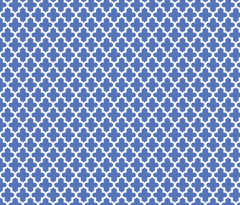 Royal Blue Moroccan Fabric By Sweetzoeshop On Spoonflower