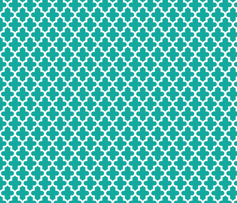 Teal Moroccan fabric by sweetzoeshop on Spoonflower - custom fabric
