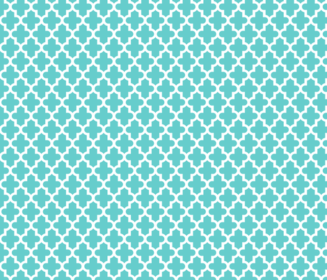 Turquoise Moroccan fabric by sweetzoeshop on Spoonflower - custom fabric