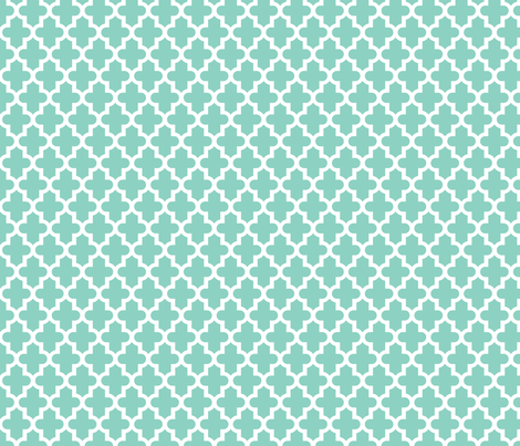 Aqua Moroccan fabric by sweetzoeshop on Spoonflower - custom fabric