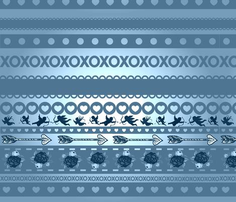 CUPID ARROWS fabric by bluevelvet on Spoonflower - custom fabric