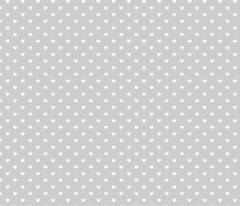 Light Gray Polka Dot Hearts fabric by sweetzoeshop on Spoonflower - custom fabric