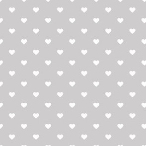 Light Gray Polka Dot Hearts