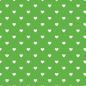 Kelly Green Polka Dot Hearts
