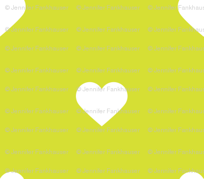 Lime Green Polka Dot Hearts