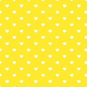 Yellow Polka Dot Hearts