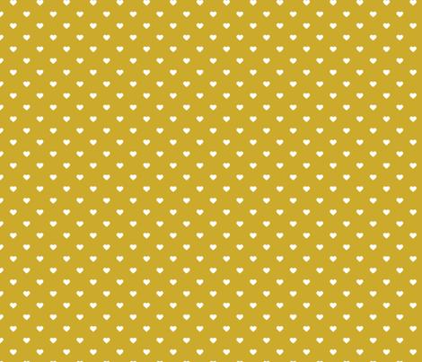 Gold Polka Dot Hearts fabric by sweetzoeshop on Spoonflower - custom fabric