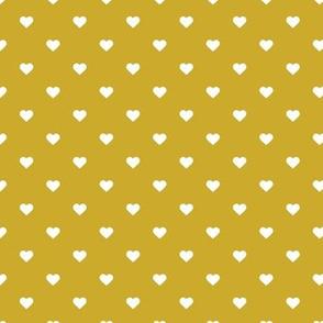 Gold Polka Dot Hearts