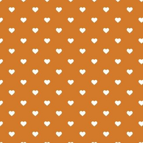 Burnt Orange Polka Dot Hearts