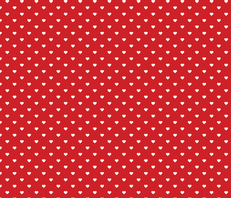Red Polka Dot Hearts fabric by sweetzoeshop on Spoonflower - custom fabric