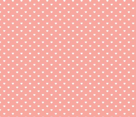 pink polka dot hearts fabric sweetzoeshop spoonflower. Black Bedroom Furniture Sets. Home Design Ideas