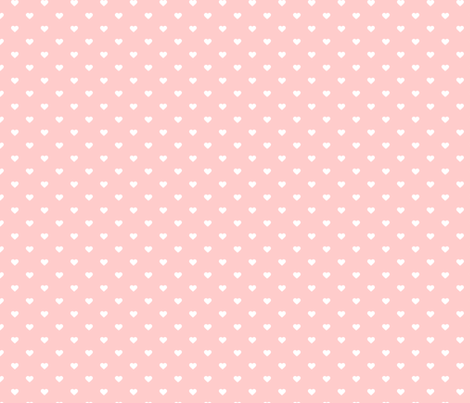 Light Pink Polka Dot Hearts fabric by sweetzoeshop on Spoonflower - custom fabric