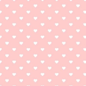 Light Pink Polka Dot Hearts