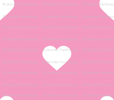 Bubblegum Pink Polka Dot Hearts