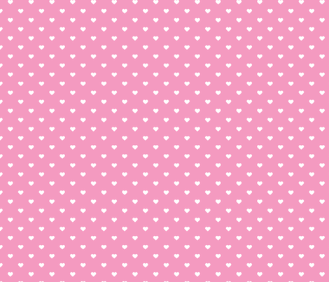 Bubblegum Pink Polka Dot Hearts fabric by sweetzoeshop on Spoonflower - custom fabric