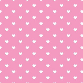 Bubblegum Pink Polka Dot Hearts