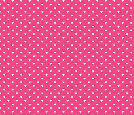 Hot Pink Polka Dot Hearts fabric by sweetzoeshop on Spoonflower - custom fabric