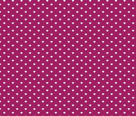 Berry Purple Polka Dot Hearts fabric by sweetzoeshop on Spoonflower - custom fabric