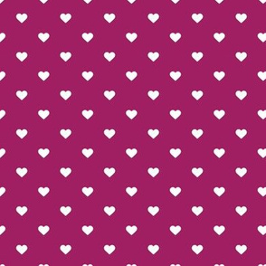 Berry Purple Polka Dot Hearts