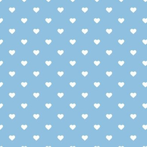 Sky Blue Polka Dot Hearts