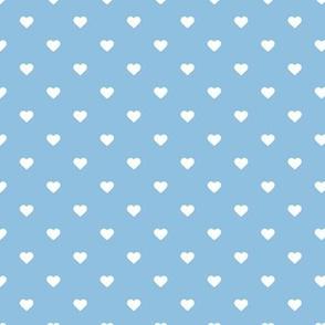 Sky Blue Polka Dot Hearts
