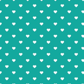 Teal Polka Dot Hearts