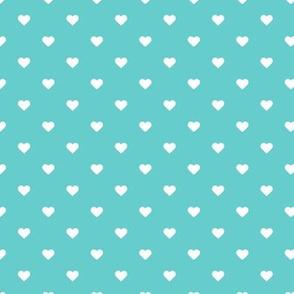 Turquoise Polka Dot Hearts