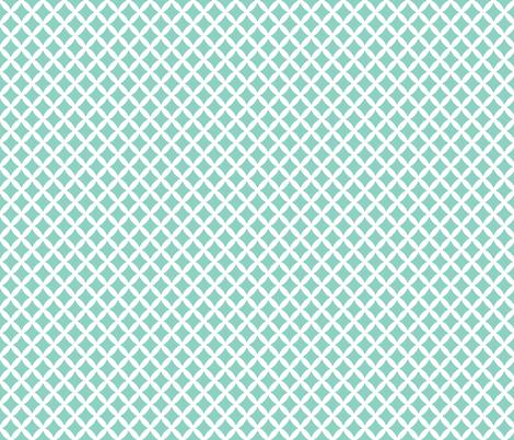 Aqua Modern Diamonds fabric by sweetzoeshop on Spoonflower - custom fabric