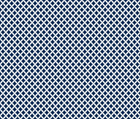 Navy Blue Modern Diamonds fabric by sweetzoeshop on Spoonflower - custom fabric