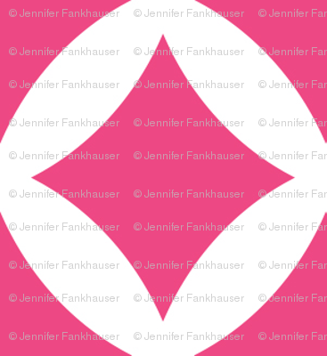Hot Pink Modern Diamonds
