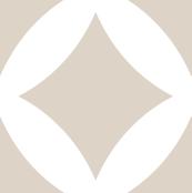 Linen Beige Modern Diamonds