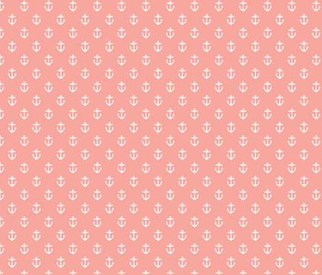 Pink Anchors fabric by sweetzoeshop on Spoonflower - custom fabric