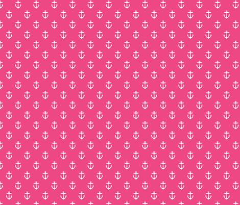 Hot Pink Anchors fabric by sweetzoeshop on Spoonflower - custom fabric
