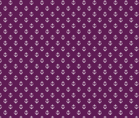 Plum Purple Anchors fabric by sweetzoeshop on Spoonflower - custom fabric
