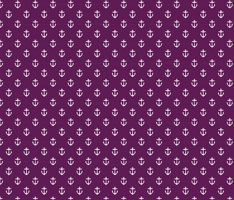 Plum Purple Anchors fabric by sweetzoeshop on Spoonflower - custom fabric