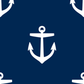 Navy Blue Anchors