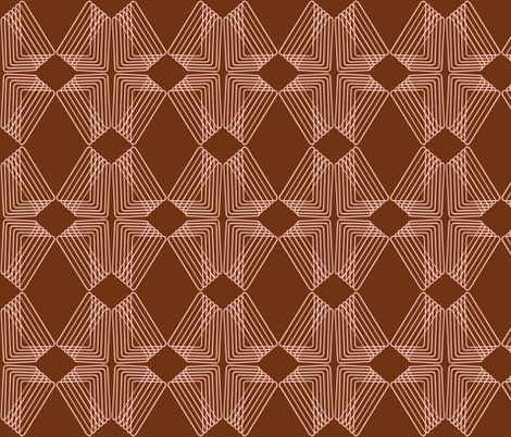 Diamonds - Brown fabric by telden on Spoonflower - custom fabric