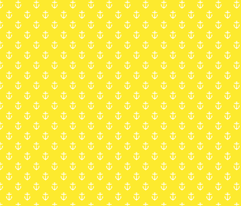 Yellow Anchors fabric by sweetzoeshop on Spoonflower - custom fabric