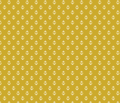 Gold Anchors fabric by sweetzoeshop on Spoonflower - custom fabric