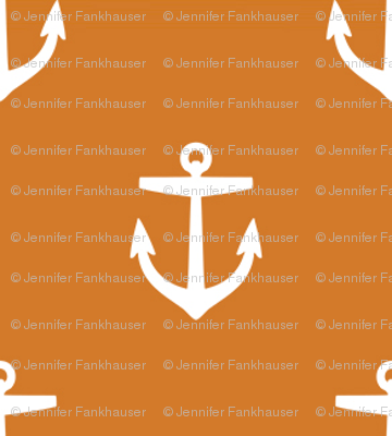 Burnt Orange Anchors