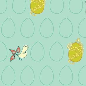 Egg & Chick Blue