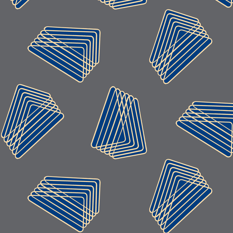 Floating Stacked Triangles - Gray and Blue fabric by telden on Spoonflower - custom fabric