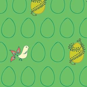 Egg & Chick Green